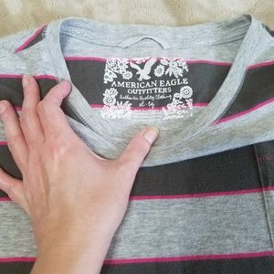 American Eagle Outfitters Tops - BUNDLE! AE Striped Crew Neck Tee -Fits Small